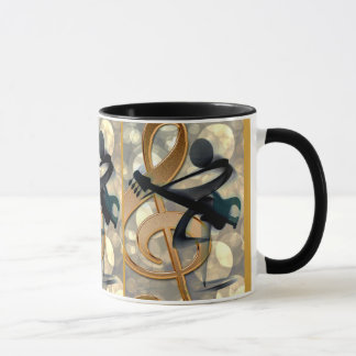 Abstract Guitar Music Mug