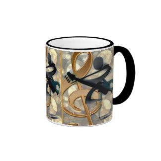 Abstract Guitar Music Ringer Mug