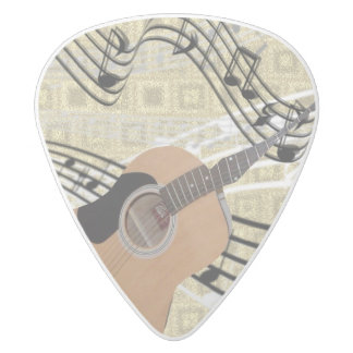 Abstract Guitar Picks White Delrin Guitar Pick