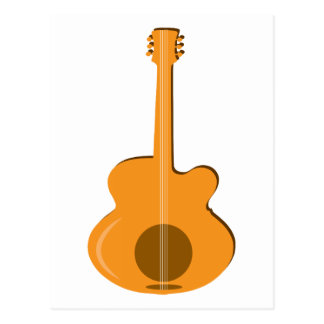 Abstract Guitar Post Card