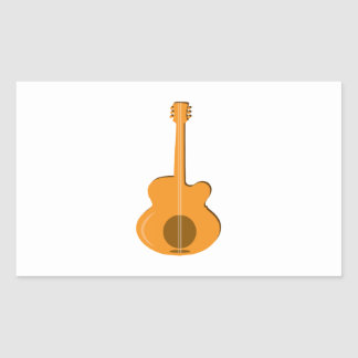 Abstract Guitar Rectangular Sticker