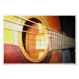Abstract Guitar side view Poster