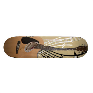 Abstract Guitar Skateboard