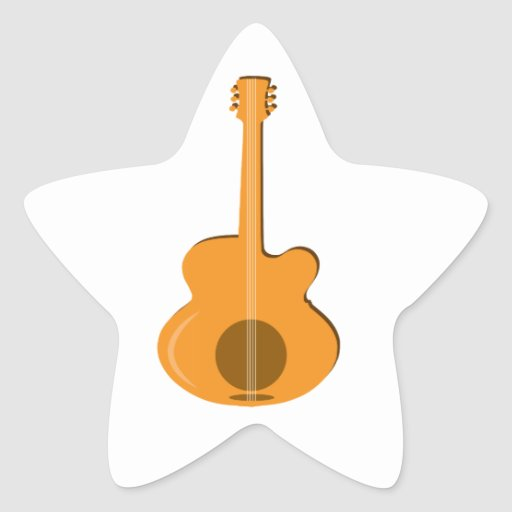 Abstract Guitar Star Sticker