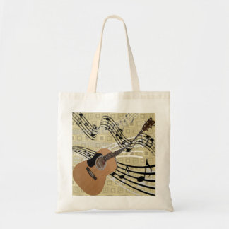 Abstract Guitar Tote Bags