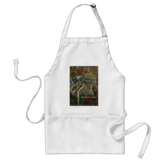 abstract guitarist standard apron