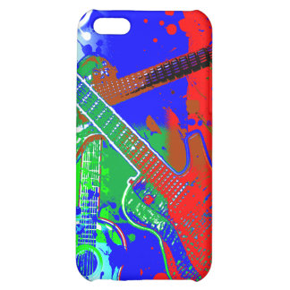 Abstract Guitars Collage Case For iPhone 5C