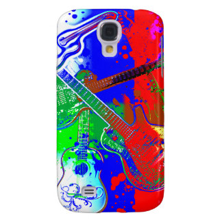 Abstract Guitars Collage Galaxy S4 Case