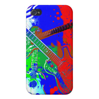 Abstract Guitars Collage iPhone 4 Case