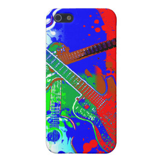 Abstract Guitars Collage iPhone 5 Cases