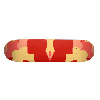Abstract guitars in green 21.6 cm old school skateboard deck