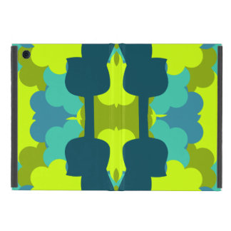 Abstract guitars in green case for iPad mini