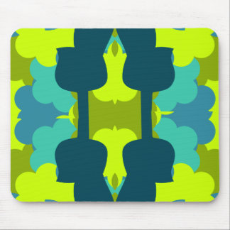 Abstract guitars in green mouse pad