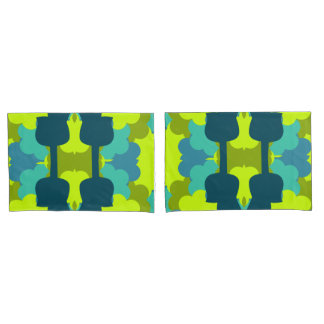 Abstract guitars in green pillowcase