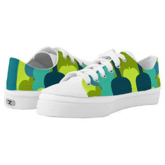 Abstract guitars in green printed shoes