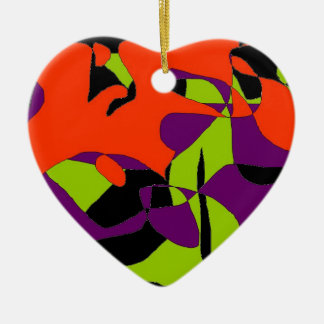 Abstract Hand bag Accessory Charm Ceramic Heart Decoration
