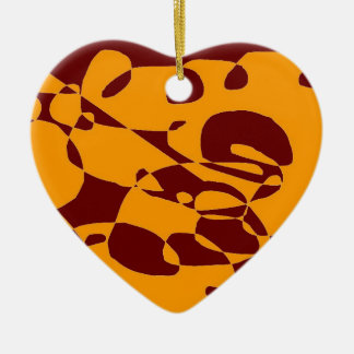 Abstract Hand bag Accessory decoration Ceramic Heart Decoration