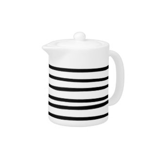Abstract Hand Drawn Black White Stripe Artistic