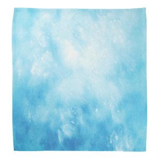 Abstract Hand Drawn Watercolor Background: Blue Bandana