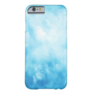 Abstract Hand Drawn Watercolor Background: Blue Barely There iPhone 6 Case