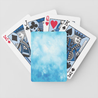 Abstract Hand Drawn Watercolor Background: Blue Bicycle Playing Cards