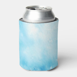 Abstract Hand Drawn Watercolor Background: Blue Can Cooler