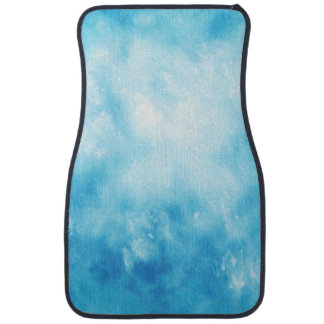 Abstract Hand Drawn Watercolor Background: Blue Car Mat