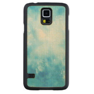 Abstract Hand Drawn Watercolor Background: Blue Carved Maple Galaxy S5 Case