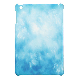 Abstract Hand Drawn Watercolor Background: Blue Cover For The iPad Mini