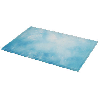 Abstract Hand Drawn Watercolor Background: Blue Cutting Board