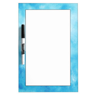 Abstract Hand Drawn Watercolor Background: Blue Dry Erase Board