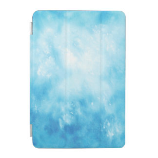 Abstract Hand Drawn Watercolor Background: Blue iPad Mini Cover