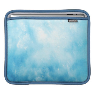 Abstract Hand Drawn Watercolor Background: Blue iPad Sleeve