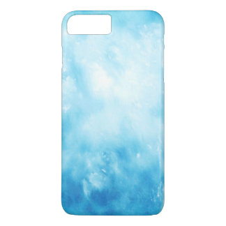 Abstract Hand Drawn Watercolor Background: Blue iPhone 7 Plus Case