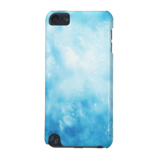 Abstract Hand Drawn Watercolor Background: Blue iPod Touch (5th Generation) Cover