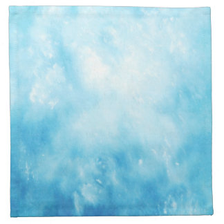 Abstract Hand Drawn Watercolor Background: Blue Napkin