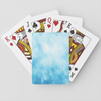 Abstract Hand Drawn Watercolor Background: Blue Playing Cards