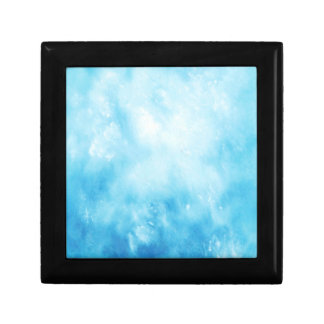 Abstract Hand Drawn Watercolor Background: Blue Small Square Gift Box