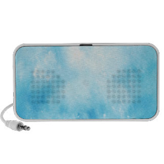 Abstract Hand Drawn Watercolor Background: Blue iPod Speaker