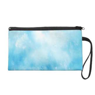 Abstract Hand Drawn Watercolor Background: Blue Wristlet