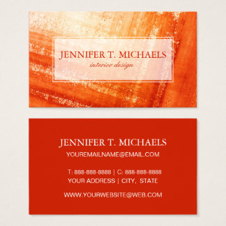 Abstract hand painted background business card