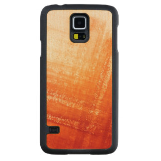 Abstract hand painted background carved maple galaxy s5 case