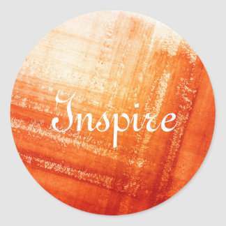 Abstract hand painted background classic round sticker