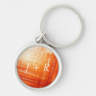 Abstract hand painted background key ring