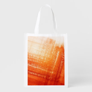 Abstract hand painted background reusable grocery bag