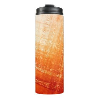 Abstract hand painted background thermal tumbler
