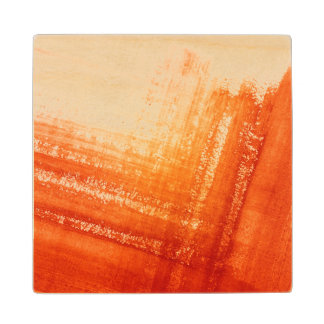 Abstract hand painted background wood coaster