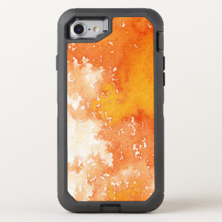 Abstract hand painted watercolor background. 2 2 OtterBox defender iPhone 8/7 case