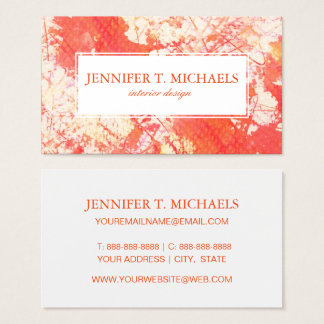 Abstract hand painted watercolor background. 2 3 business card