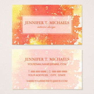 Abstract hand painted watercolor background. 2 business card